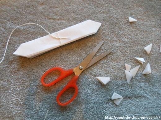 La boule de neige en papier