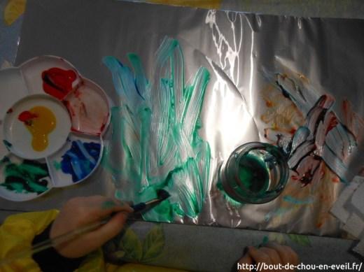 Activité peinture libre sur aluminium
