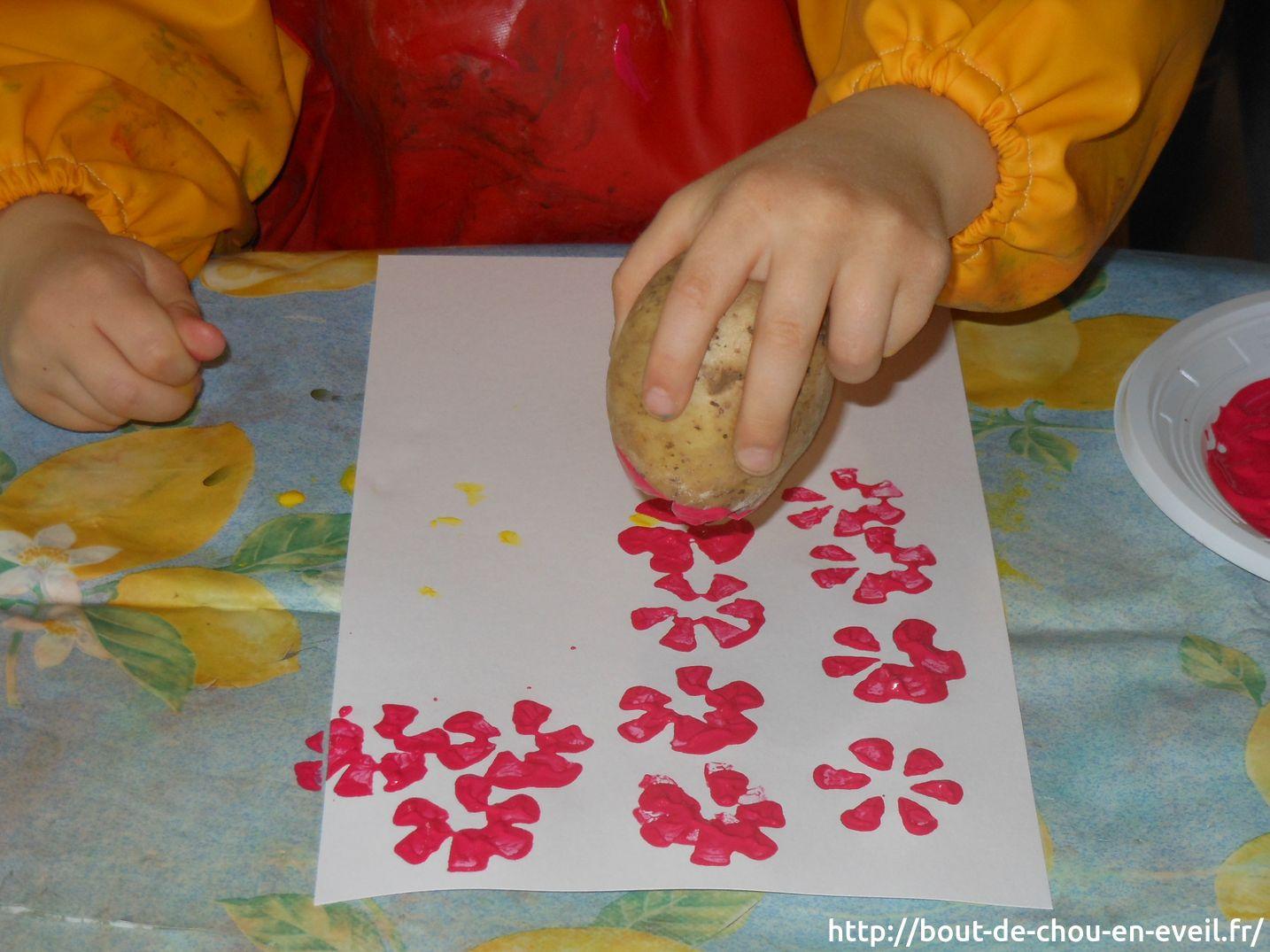 Top Activité peinture : empreintes fleuries | Bout de chou en éveil QN42