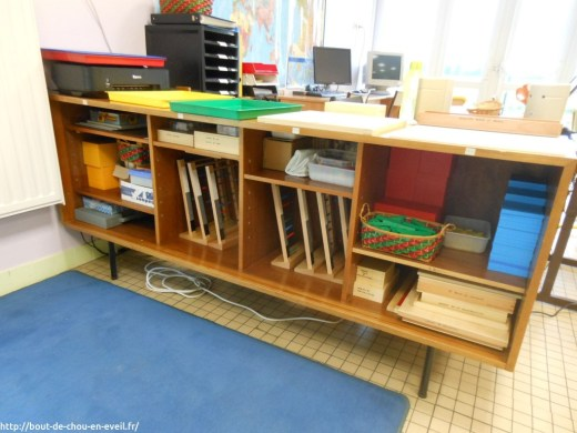Rangement du matériel Montessori