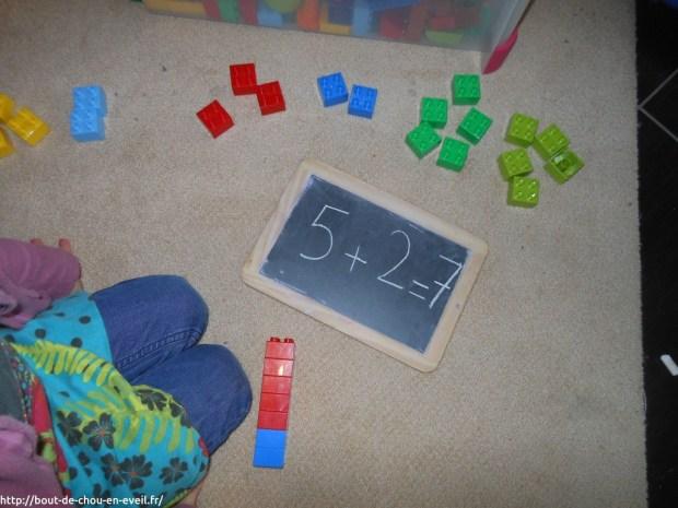 Jeux pédagogiques mathématiques avec des duplos