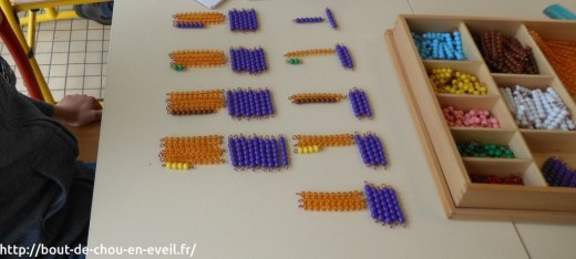 Tables de multiplication matériel Montessori