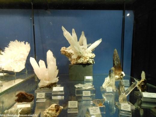 Exposition de minéraux