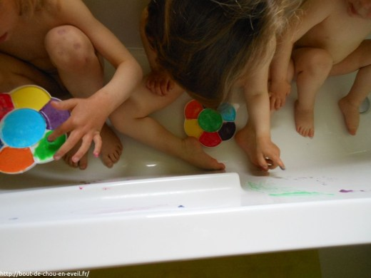 Peinture dans le bain