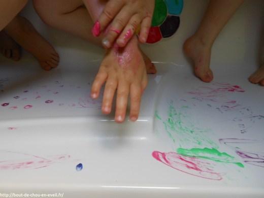 Atelier peinture dans le bain