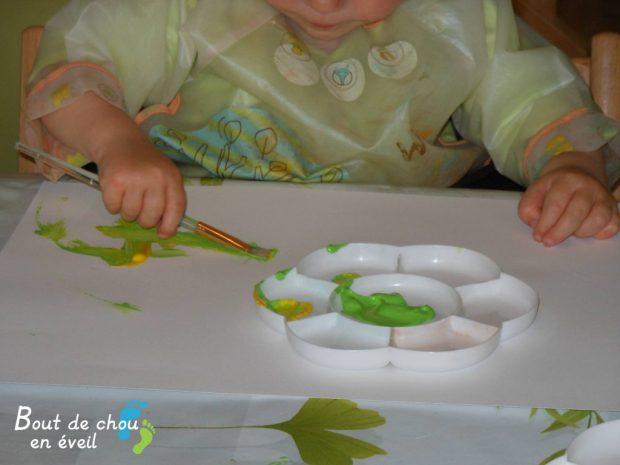 Peinture bébé 2 ans