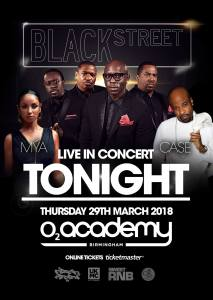 TONIGHT! Blackstreet, Mya, Case – Birmingham, UK