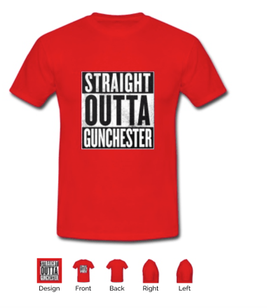straight outta gunchester red