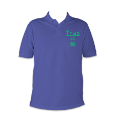 trap mob polo blue and green