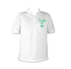trap mob polo white and green