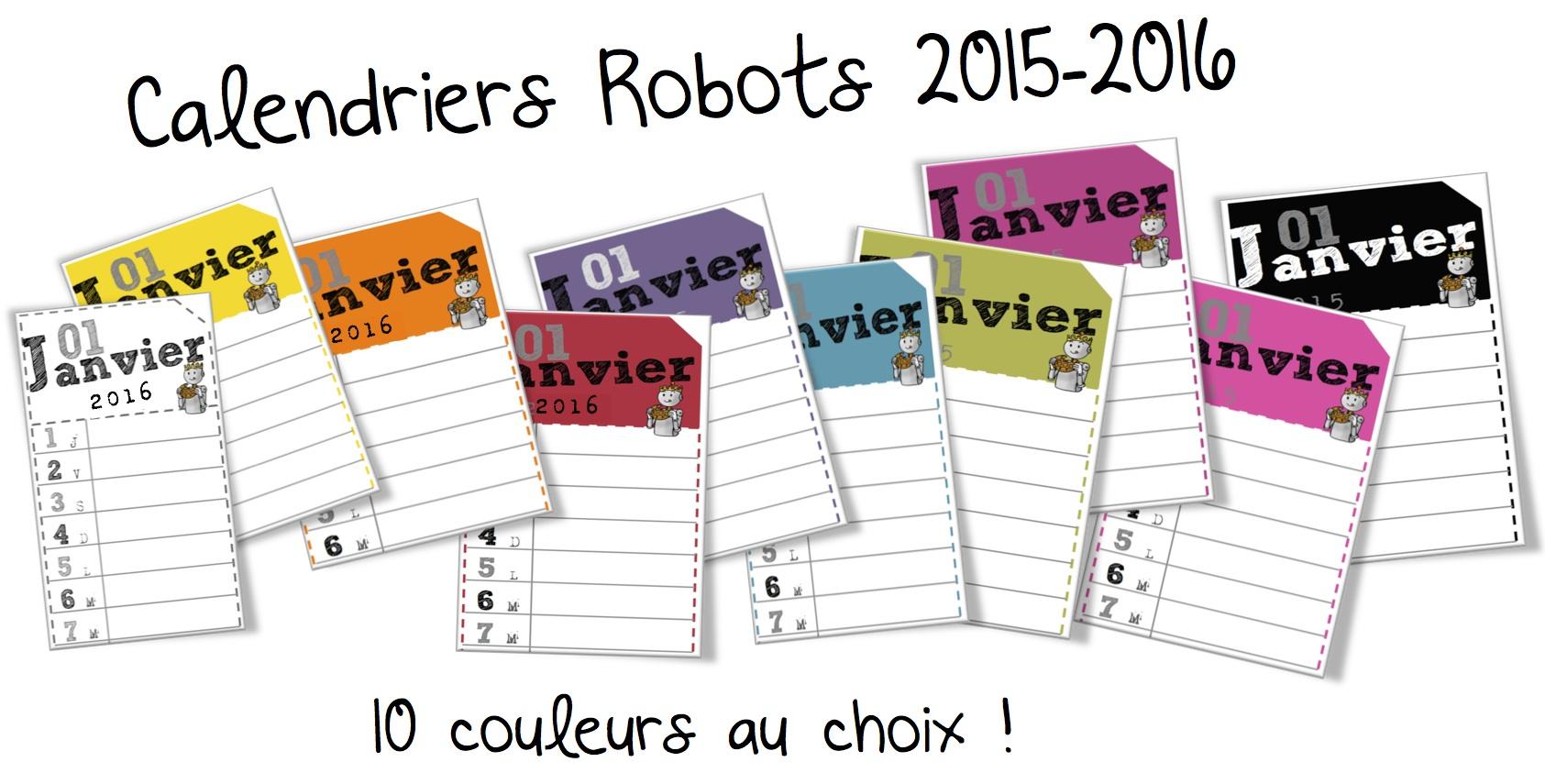 Calendriers annuels/perpétuels . Français et Anglais | Bout de Gomme