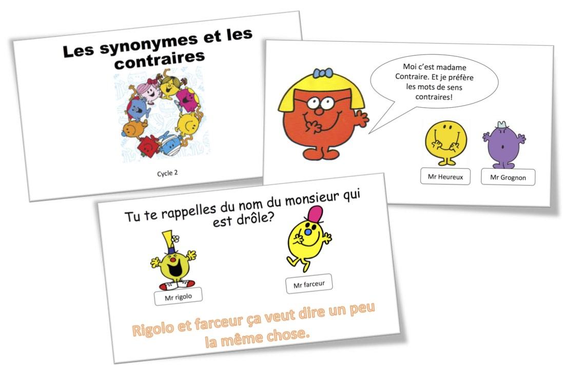 Vocabulaire Leons CE1  Bout de Gomme