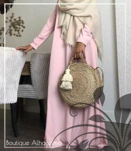 abaya wijd gekleurd