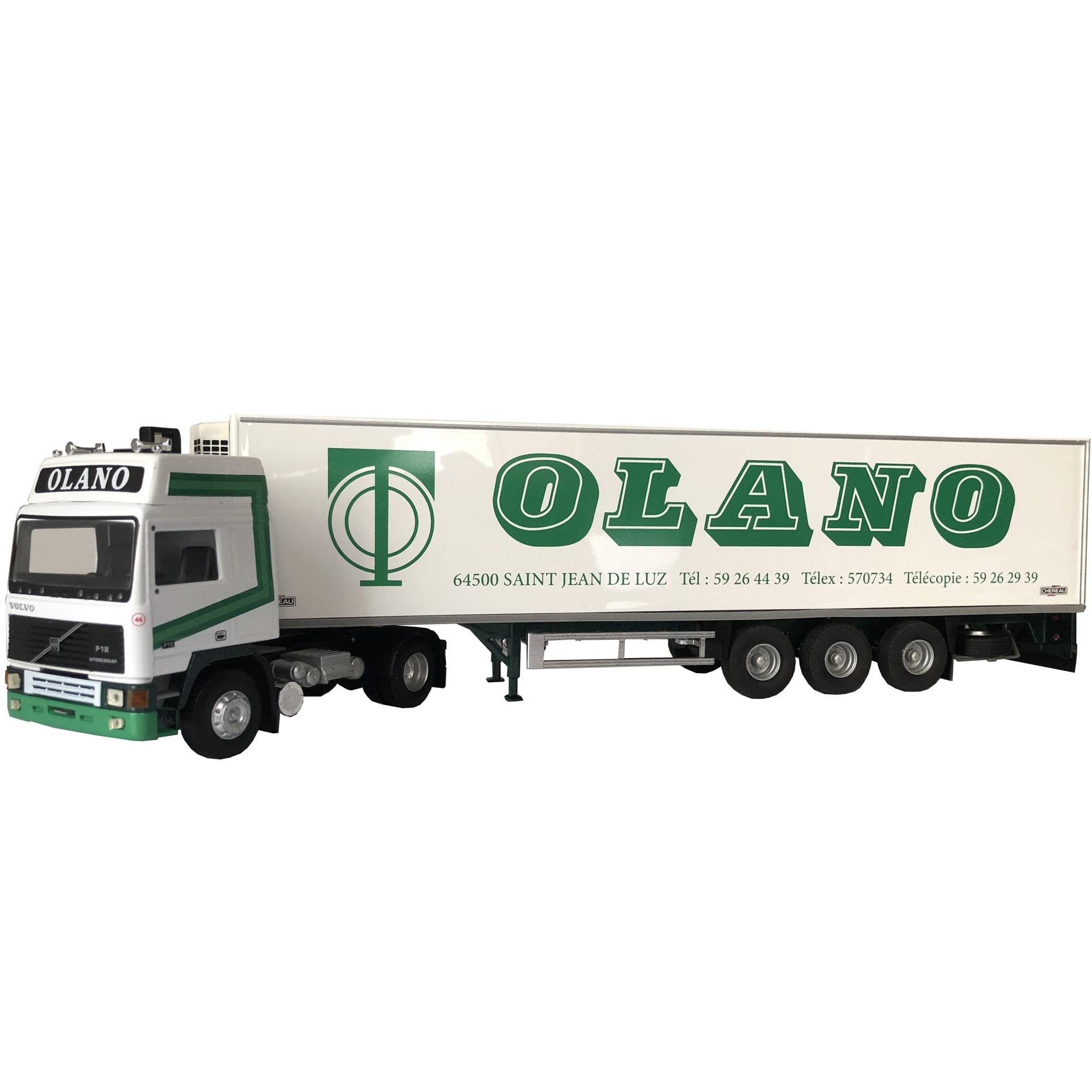 EL 116774 Echelle 1//43 Volvo F12 Semi Frigo Transports OLANO  ELIGOR