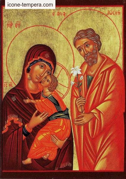 carte postale La Sainte Famille