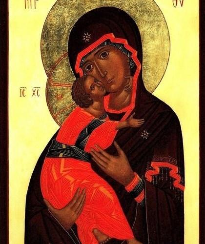carte postale La Vierge de Vladimir