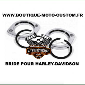 Bride d'échappement Chrome pour Harley-davidson Sportster