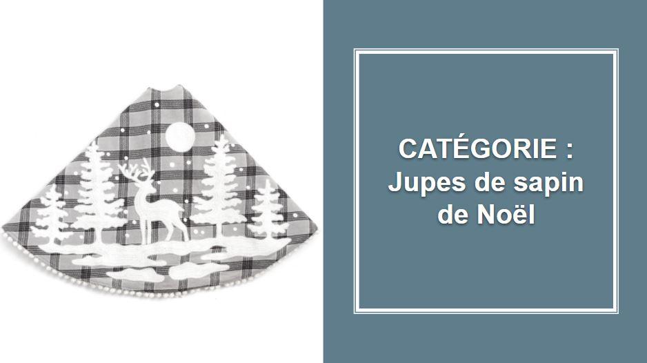 CATÉGORIE : Cache-pied pour arbre de Noël (jupe et boîte en bois)