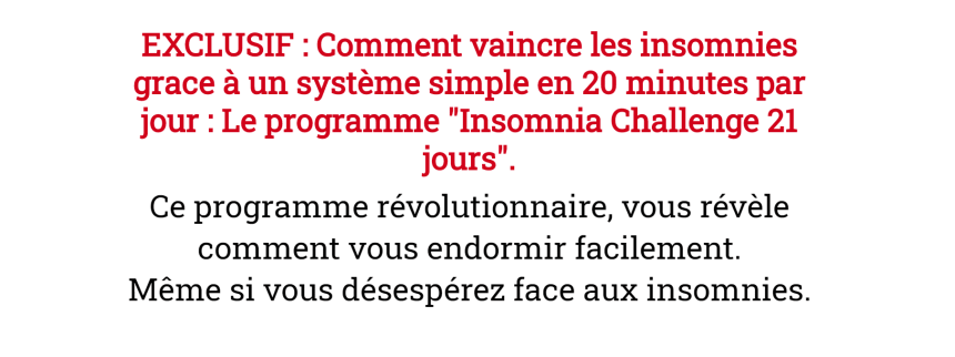 Insomnia Challenge 21 jours