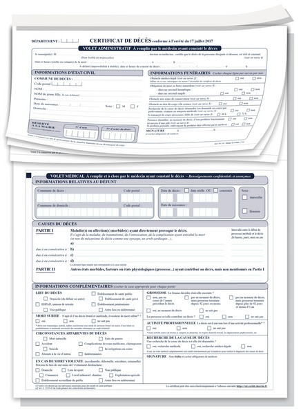 Certificat De Décès Nouveau Modèle Au 1er Janvier 2018