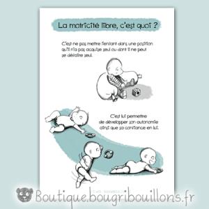 Affiche petite enfance, affiche motricité libre - Assis