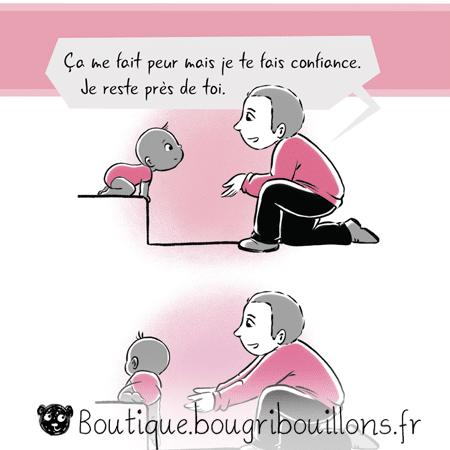 La confiance en soi - nouvelle version - Extrait 2 - Affiche Bougribouillons Petite enfance