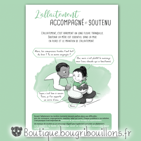Affiche allaitement 2 - L'allaitement accompagné et soutenu - Bougribouillons
