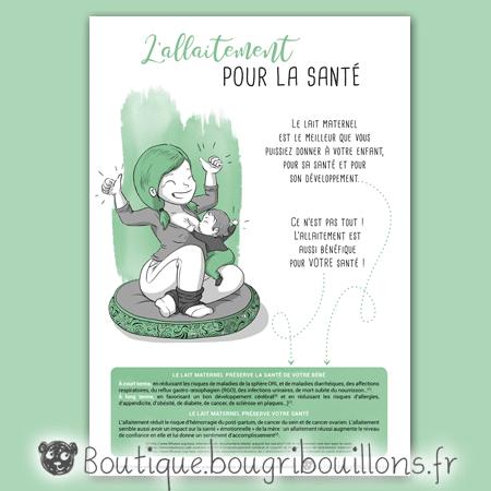 Affiche allaitement 3 - L'allaitement pour la santé - Bougribouillons