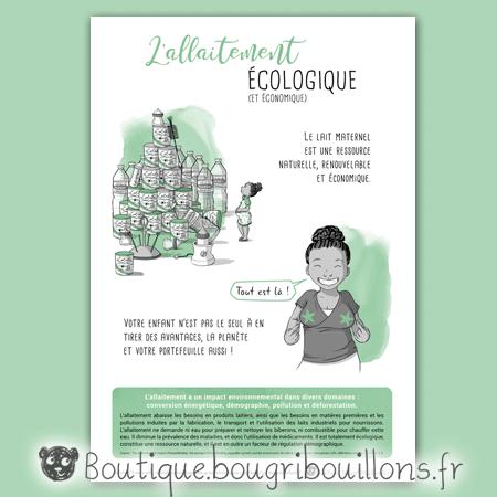 Affiche allaitement 5 - L'allaitement écologique - Bougribouillons