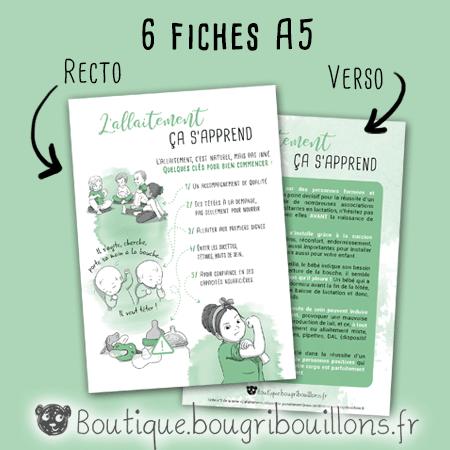 Exemple de fiche A5 sur l'allaitement - Bougribouillons