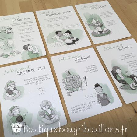 Photo 2 des fiches A5 sur l'allaitement - Bougribouillons