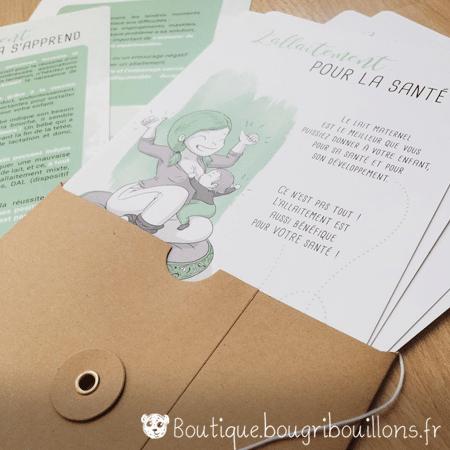 Photo 1 enveloppe fiches A5 sur l'allaitement - Bougribouillons