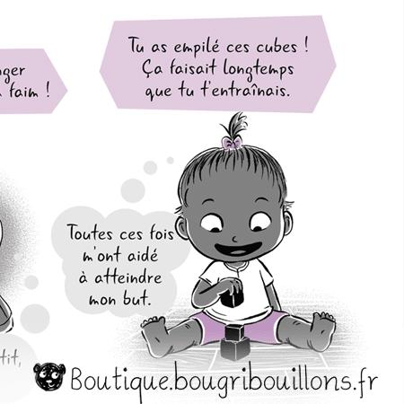 Bravo ou les compliments descriptifs et évalutatifs - Extrait 3 - Affiche Bougribouillons Petite enfance