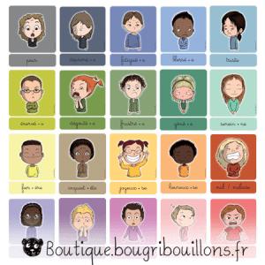 Cartes des émotions V2 - Bougribouillons