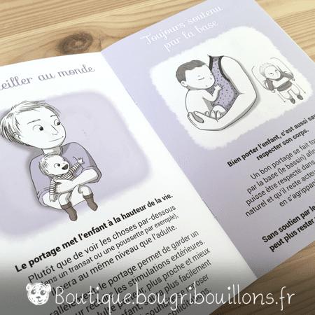 Livrets Bougribouillons - La petite enfance en images - Extrait Portage