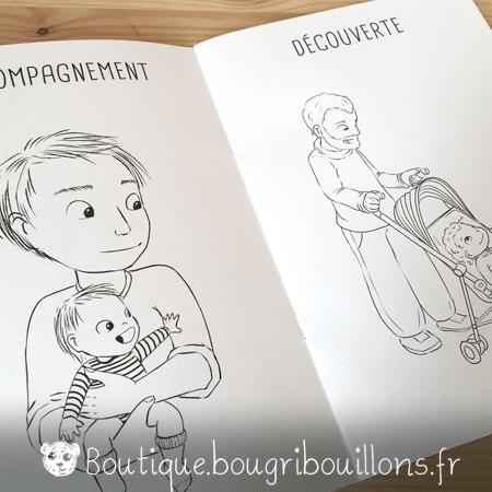 Cahier de coloriage Bougribouillons - La bienveillance en couleurs - Extrait 4