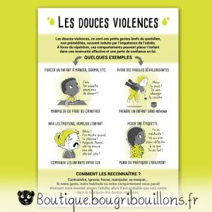 Les douces violences - Affiche Bougribouillons Petite enfance