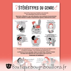 Stéréotypes du genre - Affiche Bougribouillons Petite enfance