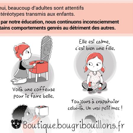 Stéréotypes du genre - Extrait 1 - Affiche Bougribouillons Petite enfance