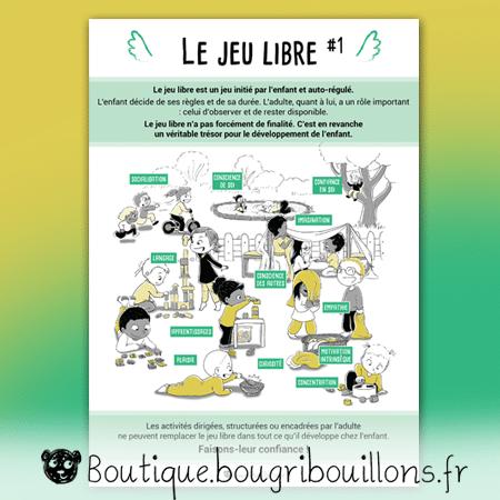 Jeu libre partie 1 - Affiche Bougribouillons Petite enfance