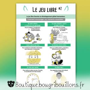 Jeu libre partie 2 - Affiche Bougribouillons Petite enfance