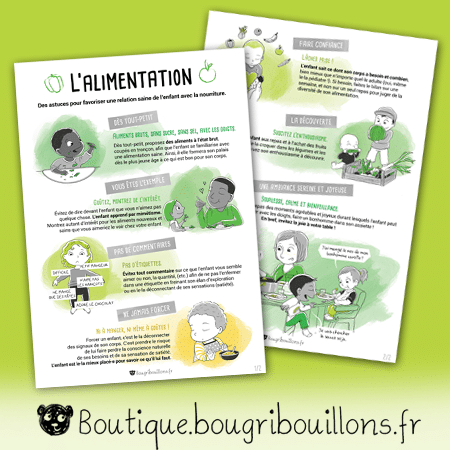 Duo Affiches - L'alimentation - Affiche Bougribouillons Petite enfance