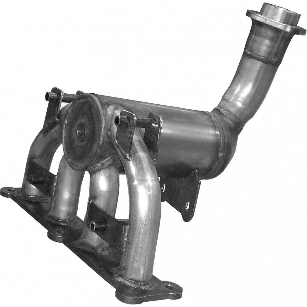 medium resolution of exhaust manifold with catalytic converter chrysler dodge jeep 24158hm