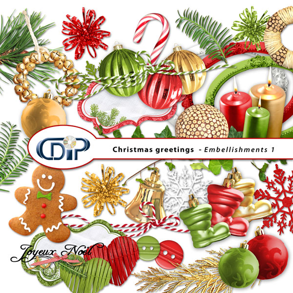 Digital Kit Christmas Greetings By Download CDIP
