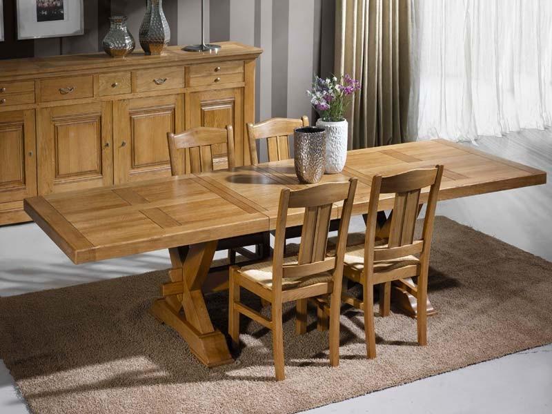 Table Cuisine Bois Massif Table Carre Style Rustique En
