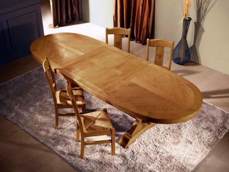 table de repas rustique en chene massif