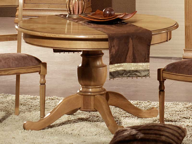 table a manger rustique format rond en