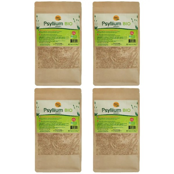 Pack 4 psyllium blond bio 300 g