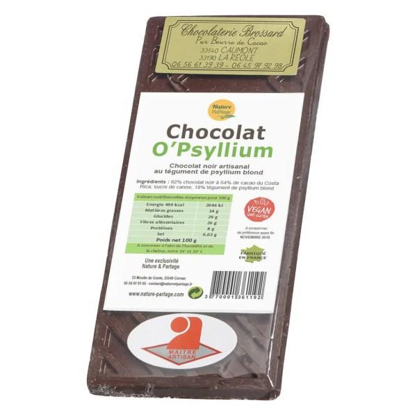 chocolat au psyllium