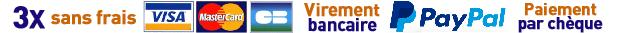 Visa, Carte Bancaire, MasterCard, Paypal